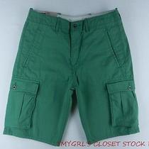 Levi's Mens Green Below the Knee Below the Waist Cargo Shorts Sz W33 Nwt Icr Photo