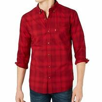 Levi's Mens Shirt Red Size Medium M Check Plaid Chama Button Down 54 354 Photo