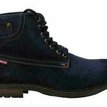 Levi's Mens Suede Boots Sheffield Blue Ankle Lace Up Winter Shoes Size 11 M  Photo
