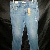 Levi's Nwt 16 M 33 X 32 505 Straight Leg Blue Jeans Mid Rise Easy Fit Hip Thigh Photo