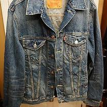Levi's Nwt Denim Trucker Jacket Men's Medium Free Shipping Us Distressed Photo