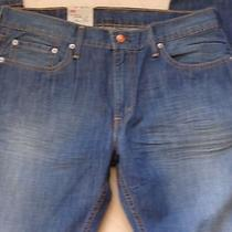 Levi's Nwt Men's 514 Dirt Rush Blue Denim Jeans Low Rise Slim-Straight Leg 34x34 Photo