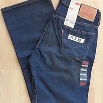 Levi's Nwt Men's 569 Kale Blue Denim Jeans Loose Fit Low Waist 31x32 Photo