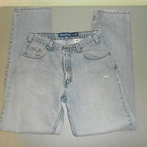 Levi's Silvertab Relaxed Fit Denim Blue Jeans Mens 32x34 Usa Made Cotton Grunge Photo