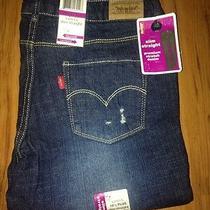Levi's Slim Straight Girls Jeans Size 10 Plus Photo