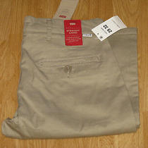 Levi's Straight Chino Pants 29 X 32 Tan Stretch Denim New With Tags Photo