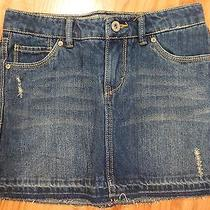 Levi's Strauss Denim Skirt Distressed Mini Size 10 Photo