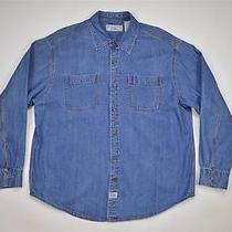 Levi's Strauss Signature Long Sleeve Button Heavy Denim Jean Shirt Men's 2xl Photo