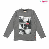 Levi's T-Shirt Top Size 10y Melange Effect Printed Photo Front Photo