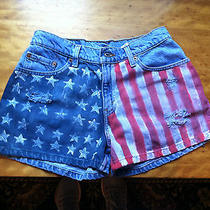Levi's Upcycled Hand Painted Juniors Jean Shorts Photo