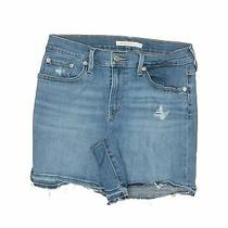 Levi's Women Blue Denim Shorts 28w Photo