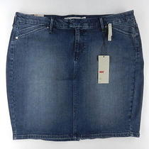 Levi's Women's Medium Wash Multi Pocket Denim Pencil Skirt Sz 12 Nwt Dyt Photo