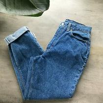 Levi's Women's Mom Jeans Blue Tapered Leg High Rise Jeans Size 14 Photo