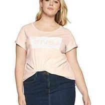 Levi's Women's Plus-Size Perfect Graphic Tee Batwing Peach Blush Size 2.0 Hpmu Photo