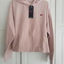 Levi's Women's Zip Skate Hoodie Sweatshirt - Rose Blush Pink - Size Medium - New Photo