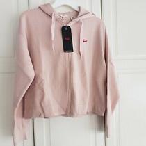 Levi's Women's Zip Skate Hoodie Sweatshirt - Rose Blush Pink - Size Xs - New Photo
