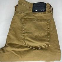 Levi Strauss 514 Denim Jeans 34x30 Straight Fit Brown Khaki Athletic Build Photo
