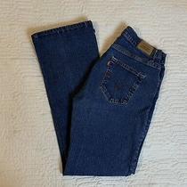 Levi Strauss Blue Jeans Women Size 12 M 32 Waist Stretch Boot Cut Dark Wash  Photo