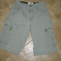 Levi Strauss Boys  Cargo Shorts Size 12 Taped 28 X 12  Sage Green Photo