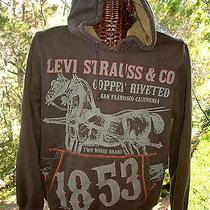 Levi Strauss & Co. Two Horse Brand San Francisco Brown Hoodie Sweatshirt Mens M Photo