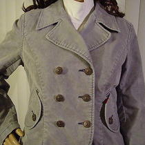 Levi  Strauss Corduroy Grayish/blue Double Breast  Jacket W/2 Pockets 15.95 Nr Photo