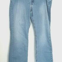 Levi Strauss Signature Jeans Women's 22w Stretch Mid Rise Bootcut Blue 43w/31l Photo