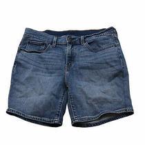 Levi Womens Size 30 Shorts Light Blue Bermuda Mid Length N2 Photo