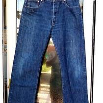 Levis 501 Men's Regular Straight Leg Button Fly Trouser Jeans Size W38l28 Photo