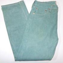 Levis 501 Straight Leg Button Fly Teal Jeans Photo