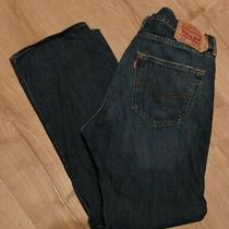 Levis 501xx Dark Blue Jeans Mens Size 36x31 Red Tab Button Fly  Photo