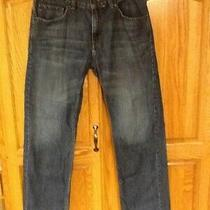 Levis 505 28x28 16 Reg Boys Denim Jeans Dark Blue Straight Leg Euc Photo