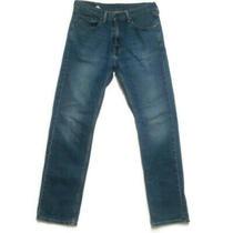Levis 505 Mens Blue Jeans Sz 33 X 34 Zip Fly 5-Pocket Straight Leg Cotton Denim Photo