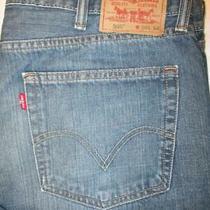 Levis 505 Straight Fit Men's Blue Denim Jeans Size 38 X 34 Mint Photo