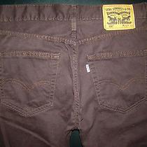 Levis 508 Mens sz.29x30 Burntwood Soft Twill Regular Taper Premium Pants Euc Photo