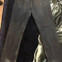 Levis 514 Dark Blue Jeans 37x32.5 Denim Mens Photo