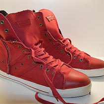 Levis 51515301r Men's Red High Top Sneakers Size 12 Photo