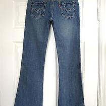 Levis 517 Flare Stretch Denim Adjustable Waist Jeans Girls Size 14 (Inseam 29.5) Photo