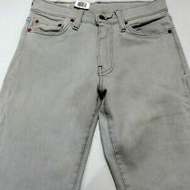 Levis 519 Extreme Skinny Jeans Tight Pants Tagged Sz 30 X 32 Light Gray Nwt New Photo