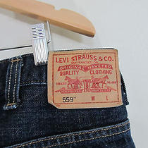 Levis 559  Jeans 46 X 32 Relaxed Straight Fit Dark Wash Denim Mens Jeans Photo