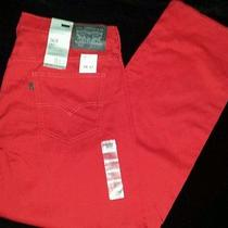 Levis 569 Loose Straight Fit Line 8 Deep Red Jeans Size 34/32 Sty. 855690010 Photo