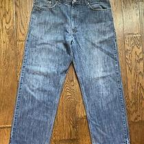 Levis 569 Red Tab Blue Denim Jeans Loose Straight Fit Mens Size 38 X 32 Usa Photo