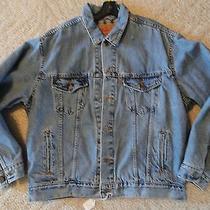 Levis Blanket Lined Denim Jacket Size Medium 70699 0389 Made in the Usa Jj31 Photo