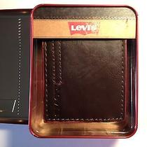 Levis Brown Leather Trifold Man Wallet  Photo