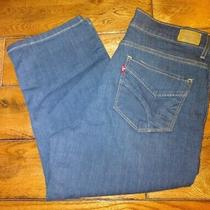 Levis Capri 512 Perfectly Slimming Dark Blue Size 12 Jeans 19