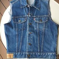 Levis Denim Vest Waistcoat M/40 New Photo