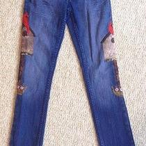 Levis Girls Skinny Jeans Size 12 Robin and Birdhouse  Photo