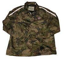 Levis Jacket Mens Camelflage Coaches Jacket Large Sleek Design Army Detailed Photo