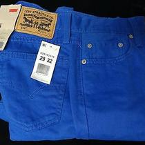 Levis Jeans Mens Size 29x32 Straight Fit 514 Colored Royal Bright Blue Jeans-Nwt Photo