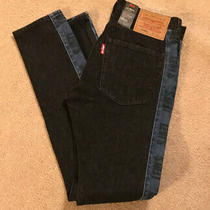 Levis Lo-Ball Stack Logo Stripe Jeans 34x35 Black Denim Photo