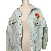 Levis Lonesome Dove Ranch Jean Jacket Blue Button Flap Pockets Collared Large Photo